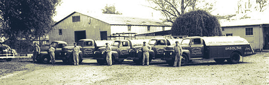 our employees and trucks
